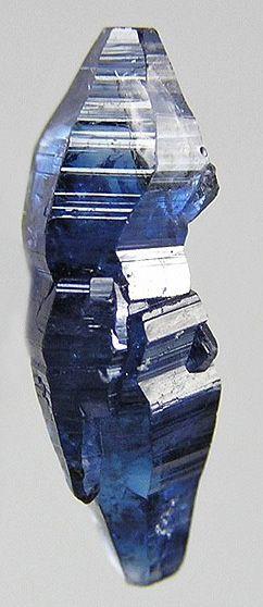 A 1.3cm uncut sapphire (corundum) from Sri Lanka  Photo by Rob Lavinsky, iRocks.com