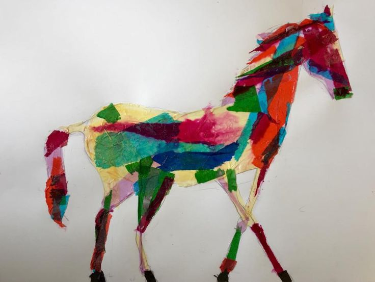 Collage horse by Nina, 9, in our Saturday class for children.  Book your child in an art class and feed their creative spirits! ART builds on itself, so the more one practices the more competent one becomes!  Each term our Mixed Media class consists of drawing, painting, sculpture & mix media. Artistic concepts are revisited to build on skills introduced and learned. http://wwas.org.au/course/mixed-media-for-kids/