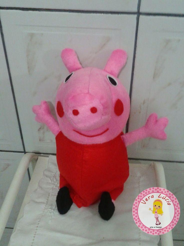 Vera Farias Arte e Design: Boneca Peppa pig (30cm)