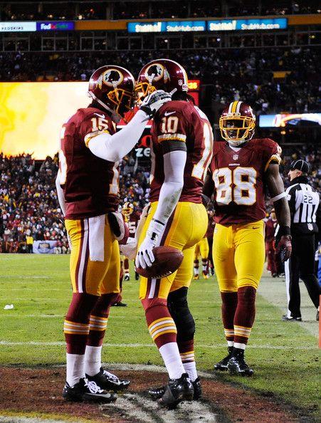 Josh Morgan, Robert Griffin III & Pierre Garcon // Washington Redskins