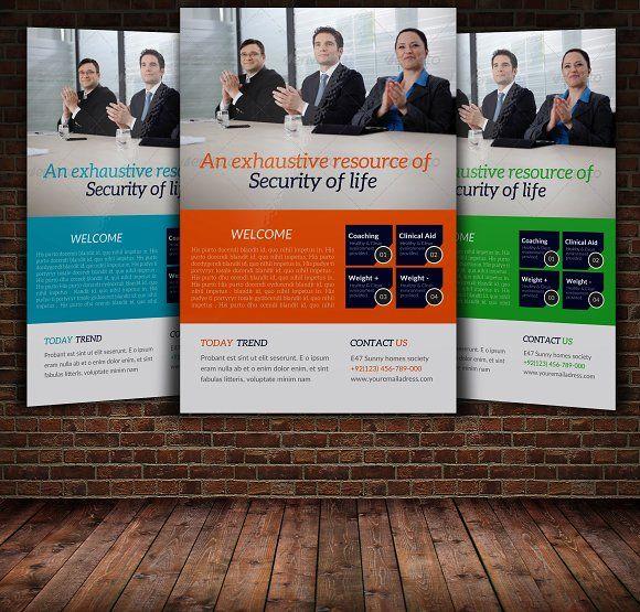 Flat Presentation Company Flyer by Manudesign on Creative Market - web flyer