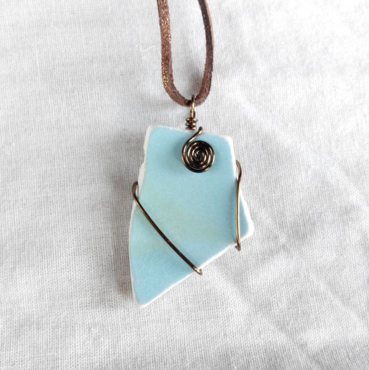 Genuine Irish sea pottery necklace. made in Ireland by terramor on Etsy