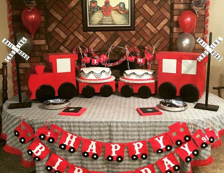 "Trains / Birthday ""Aidan and Pawpaw's Vintage Railroad Birthday"" | Catch My Party"