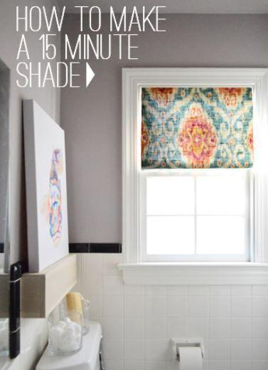 diy window shade