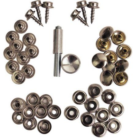 Attwood 47pc Canvas Brass Plated Fastener Kit
