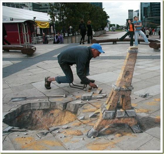 3D sidewalk painting
