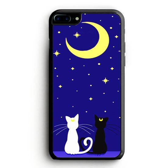 Sailor Moon Glitter LUNA Moon Cat iPhone 7 Case | yukitacase.com