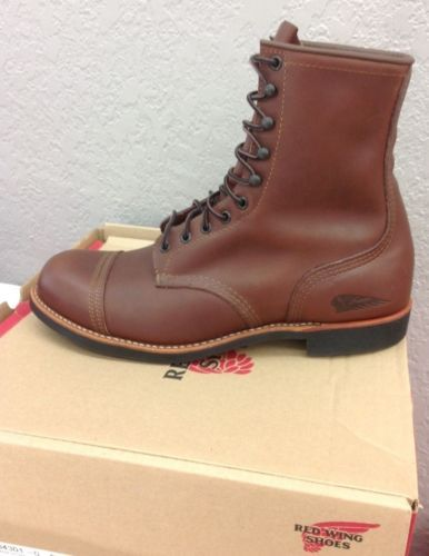 Indian-Motorcycle-Spirit-Lake-Red-Wing-Boots-Brown-Leather-2864412-NEW
