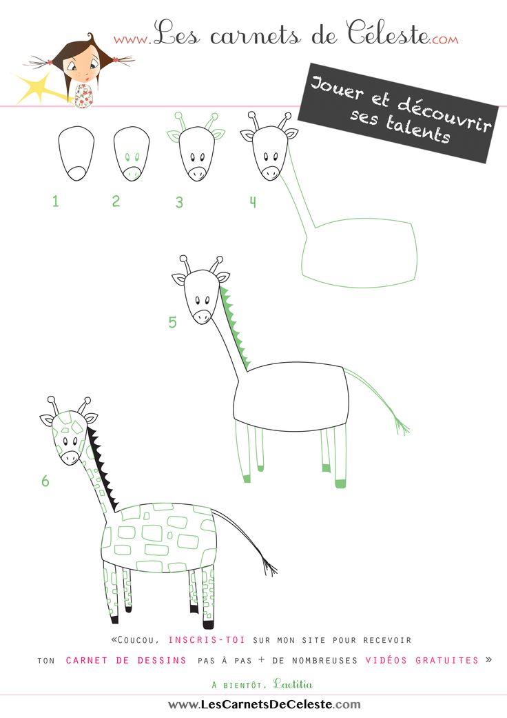 1000 images about dessiner pas pas on pinterest for Prix d une girafe a poncer