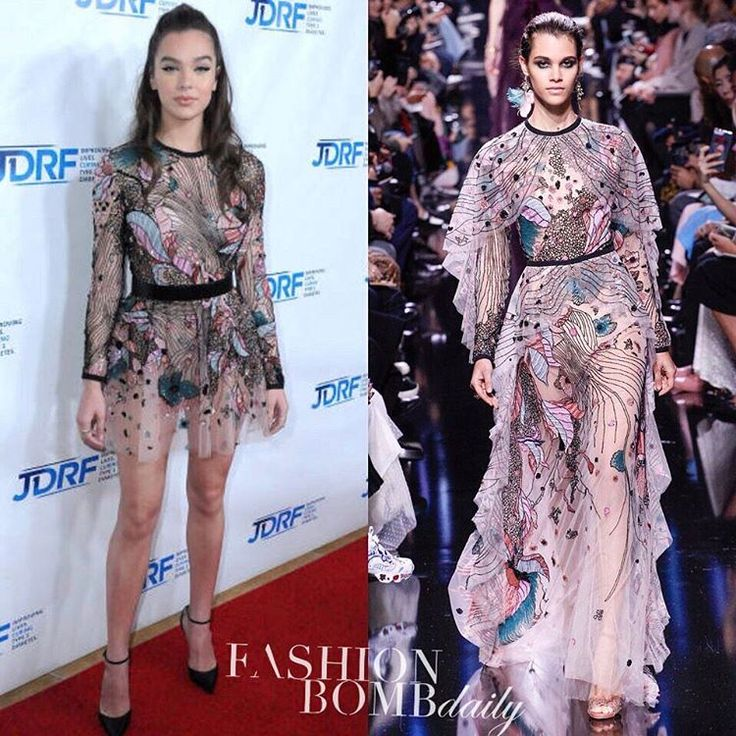 """2,107 mentions J'aime, 37 commentaires - Fashion Bomb Daily (@fashionbombdaily) sur Instagram: """"@haileesteinfeld wore an abbreviated version of this @eliesaabworld Fall 2017 runway gown to the…"""""""