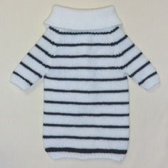 Réservé  - manteau marin en laine pour chien moyen tricoté à la main