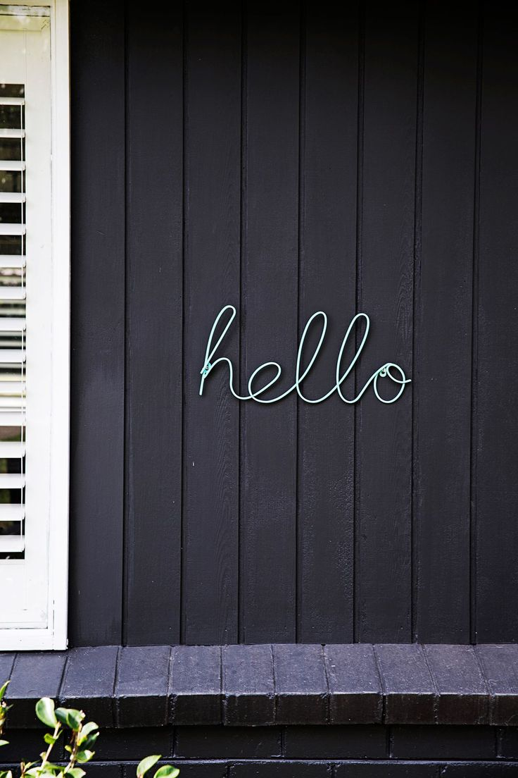 "Brightening up the exterior has made a big difference. The cheery ""Hello"" sign is from [Target](https://www.target.com.au/