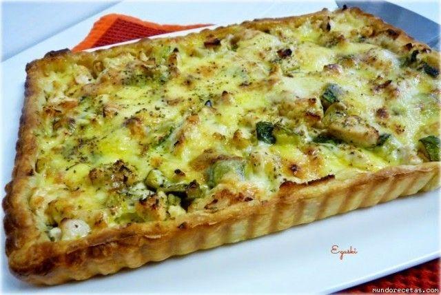 Tartaleta de pollo y queso provolone