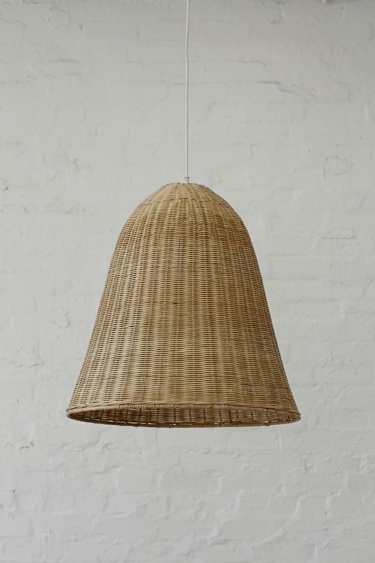 Large Rattan Pendant Light Shade Natural The Lighting