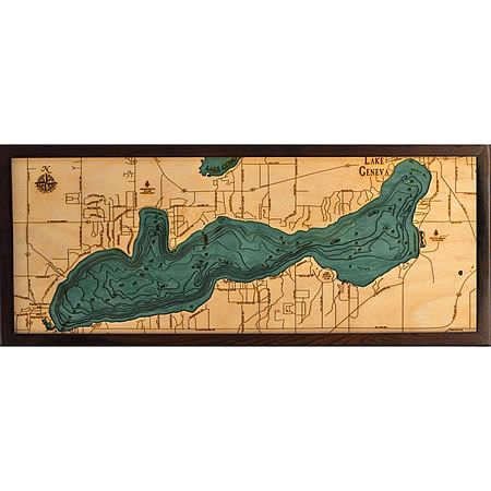 103 best 3d nautical wood maps images on pinterest for Lake geneva tattoo