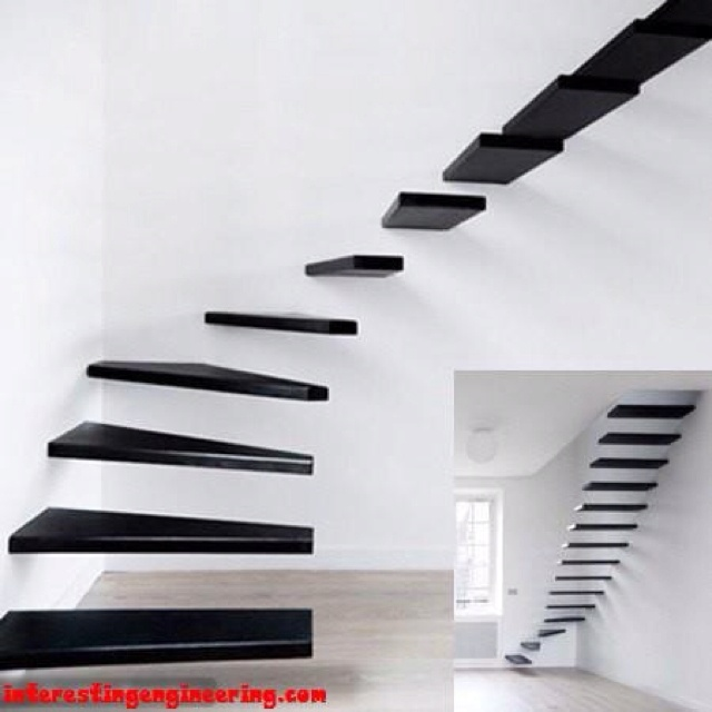 It's sleek and minimal...which I like, but I think I may get vertigo going down these steps.