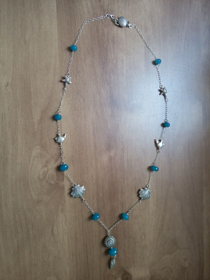 Dear Nataliya, Thank you so much for kindly provided photo! Fine 925 sterling silver necklace on the marine theme with our 925 sterling silver chain 2092.