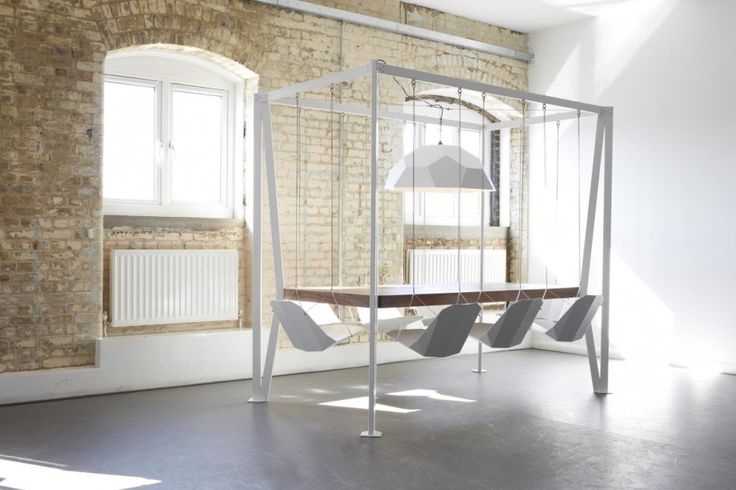 Swing Table is a minimalist design created by England-based designer Duffy London. The creative design puts some fun into dinner time and bo...