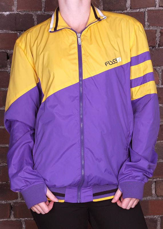 C/&A Vintage 90/'s PurpleBlack Striped Button Up Blazer