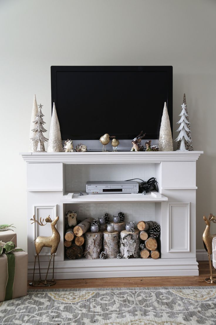 Ana White | Build a Faux Fireplace Mantle with Hidden Storage Cabinets |  Free and Easy - Best 25+ Faux Fireplace Mantels Ideas Only On Pinterest Fake