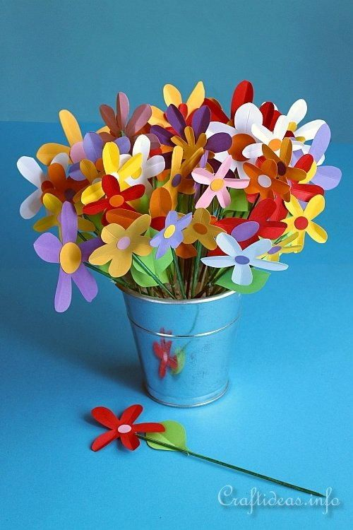 Colorful Paper Flower Bouquet How To Make Paper Flowers Paper