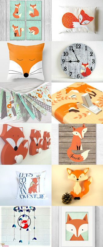 Fox baby nursery  by Ashley G on Etsy--Pinned with TreasuryPin.com                                                                                                                                                                                 More