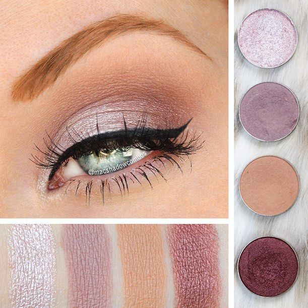 Makeup Geek Eyeshadows: 1⃣ Whimsical: on the lid (RBR capricious nightingale) 2⃣ Unexpected: crease (LM plum smoke, Tarte make a mauve, or RBR delicate hummingbird) 3⃣ Creme Brûlée: blend out Unexpected toward browbone 4⃣ Burlesque: outer v (MUFE D826 fig) 5⃣ Lashes: Moonlight Dancing from @inkyminkylashes All eyeshadows used are from #makeupgeek and shown in the order they were applied/mentioned. For more look ideas with Whimsical, visit MyEyeshadowConsultant.com!