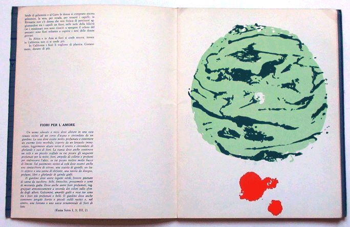 "Zine ""East 128 (4), Milano, 1963"" Inside, pp 40, Texts by Fernanda Pivano and Indian Mystic Writers, Silk-Screens by Ettore Sottsass, Limited 309 copies. 18 not numbered and the property of the author and 291 numbered by hand."