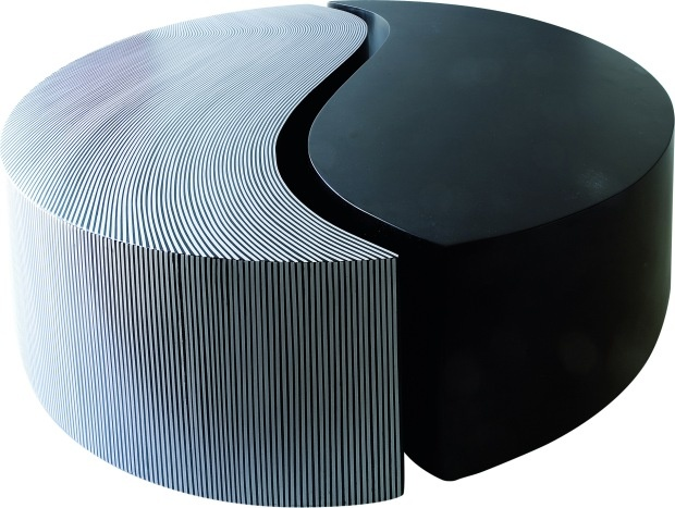 Yin yang table ottoman pouffe ottoman stool pinterest for Table yin yang