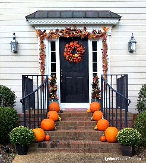 decorate your porch for fall holiday decorating ideas home - Fall Outside Decorations