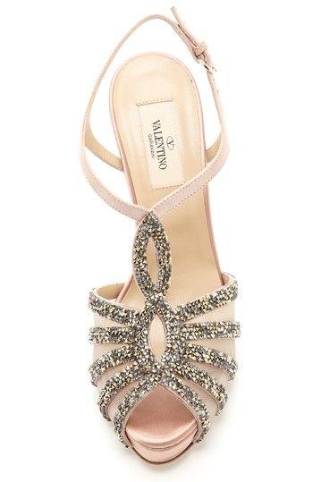 Blush sparkle heels