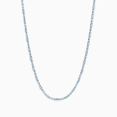 Оперное ожерелье Lucida®, платина, бриллианты в огранке «Маркиз», круглые брилли