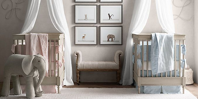 Love this layout...  colors to be determined next year!   Airin Furniture  | Restoration Hardware Baby & Child