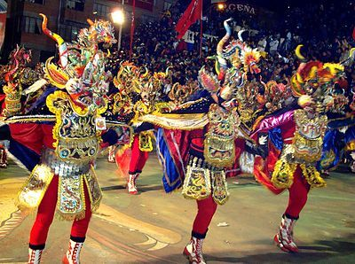 Fiesta de la Tirana is held yearly in La Tirana, Chile in honor of the local saint. La Tirana is said to be built on the graves of an Inca Princess and her Spanish lover murdered by the Incans. The legend holds that the princess and her lover are at peace during the fiesta.