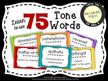Tone words for an informative essay