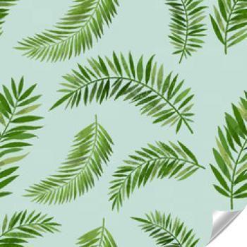 Naklejka - Vintage Wzór Liść Palmowy