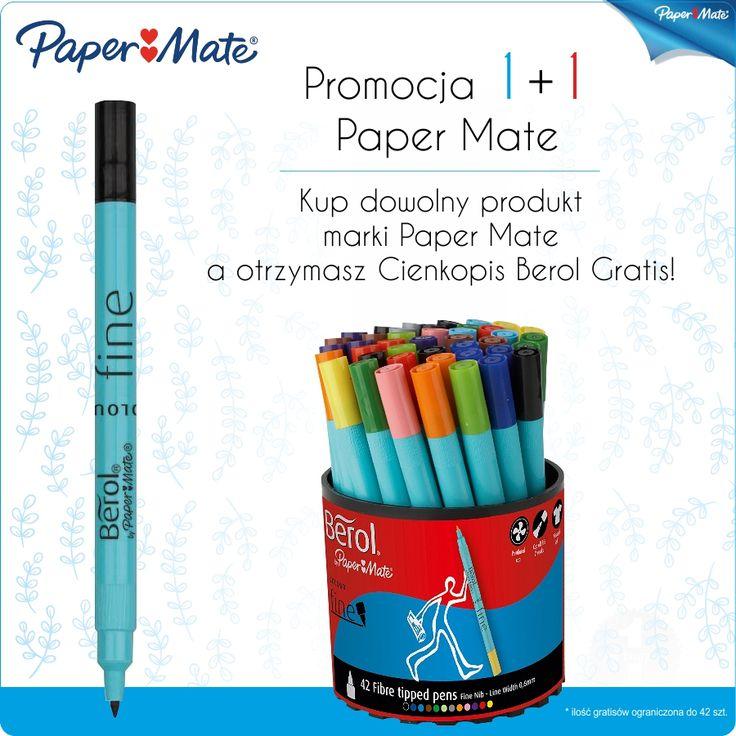 Zaproś swojego przedstawiciela handlowego na bezpłatną prezentację produktów Paper Mate . Złóż zamówienie na dowolne produkty Paper Mate u swojego przedstawiciela handlowego a otrzymasz cieńkopisy BEROL Gratis. http://azbiuro.pl/pl/promocje/az_11_PM Promocja trwa do wyczerpania Gratisów .  #Azbiuro #AzbiuroPaperMate
