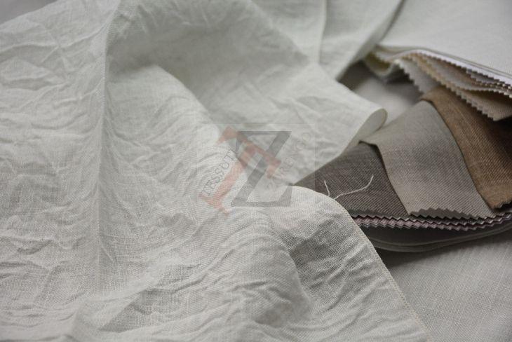 f2e547cad7bf Tenda stropicciata in Bisso di Misto Lino h.cm 300 | Tessuto per ...