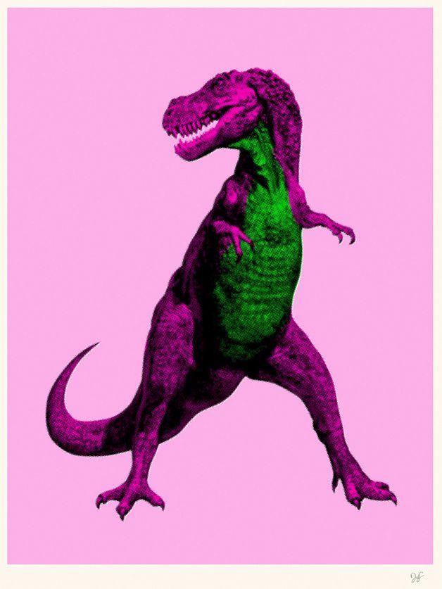 Barney By David Schwen Pink Dinosaur - ピンク 恐竜
