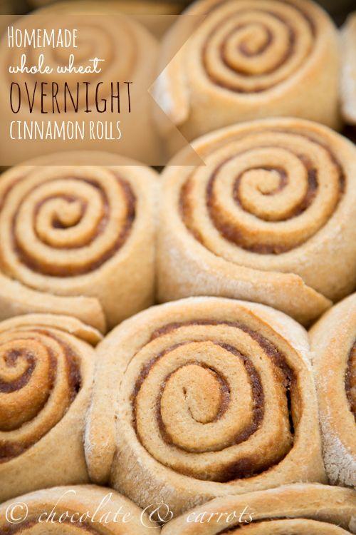 Overnight Whole Wheat Cinnamon Rolls #makeahead