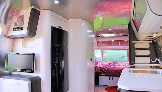 Airstream in Germany modern kitchen