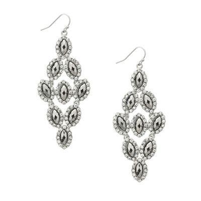 Mood Hematite navette stone chandelier earring- at Debenhams.com ...