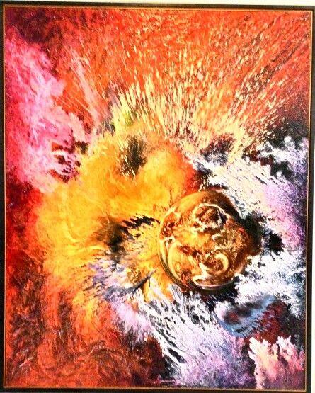 Dewa Made Mustika, Perjalanan Sang Waktu, di pameran Kala Rahu, Bentara Budaya, Yogya. Maret 2016