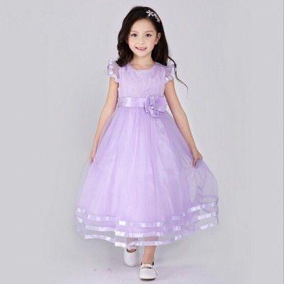 vestido color lila bello vestido de tul