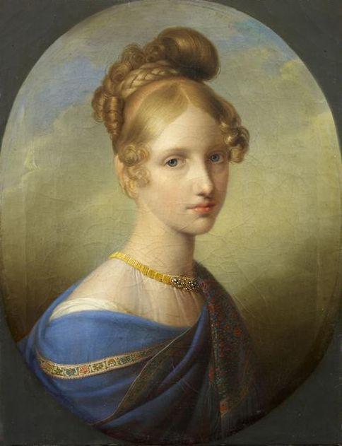 "Johann Peter Krafft: ""Archduchess Clementina of Austria (1798-1881), Princess of Salerno"", 1839/40, oil on canvas, Musée Condé."