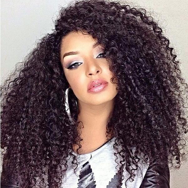 Afro Kinky Curly Lace Wigs 8A Brazilian Glueless Full Lace Wigs / Human Hair Lace Front Wig For Black Women With Baby Hair