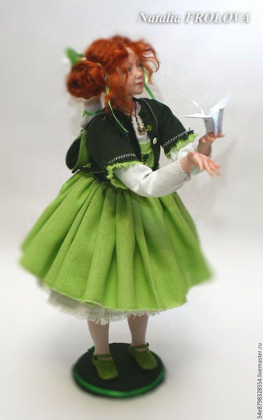 """Коллекционные куклы ручной работы. Ярмарка Мастеров - ручная работа. Купить """"до свиданье, детский сад"""". Handmade. Комбинированный, лен"""
