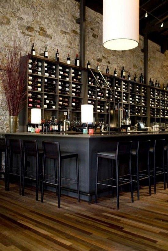 Wine wall: bar interior design on Apparatus Architecture Interior Design  Bar Restaurant Nabuzz Com