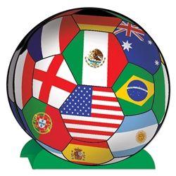 3 D international soccer ball