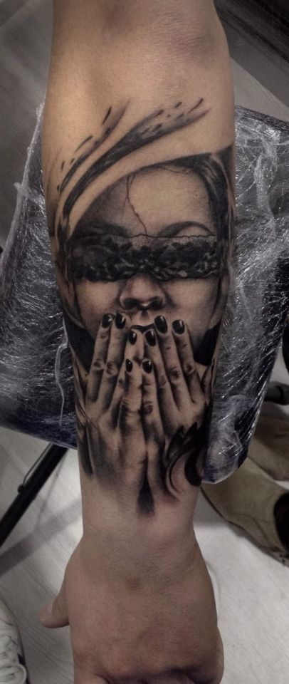 Girl Tattoo By Nitu Flavius My Work Girl Tattoos